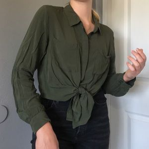 Stunning Army Green Button Up